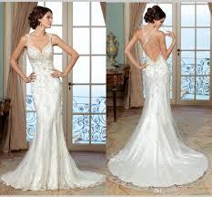 low back wedding dresses 2016 vintage mermaid wedding dresses low back criss cross