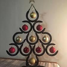 horseshoe ornaments horseshoe christmas tree rustic country decor metalworking