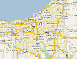 map of cleveland cleveland map map travel vacations