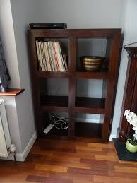 mango wood bookcase dark wood shelving unit cube storage not ikea