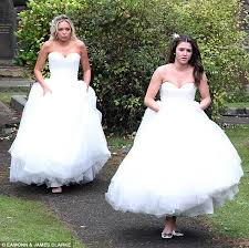 matching wedding dresses coronation wedding sian powers jilts