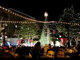 the annual tree lighting ceremony at santana row november 18