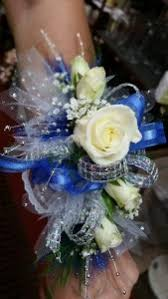 royal blue corsage royal blue silver wrist corsage in il heaven scent
