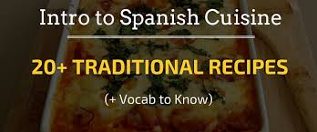 traditional cuisine recipes intro to cuisine 20 traditional recipes vocab
