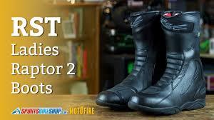 waterproof motorcycle boots rst ladies raptor 2 waterproof motorcycle boots overview youtube