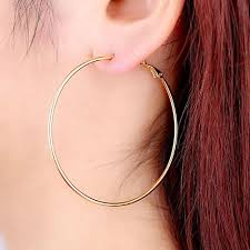big earing best quality simple designed fashion 18k gold plated big hoop