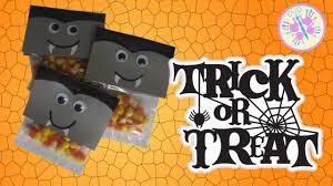 handmade halloween treat bags diy halloween trick or treat candy corn vampire teeth by