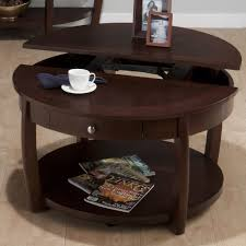 round coffee table with storage coffee table desk and table white