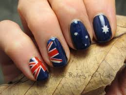 australia day nail art break rules not nails