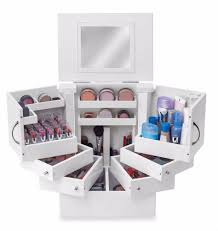 lori greiner deluxe cosmetic organizer makeup box stores up to 200