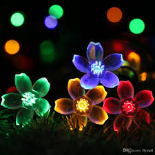 solar powered string lights 7m 50 led outdoor solar powered string lights flower ls 8 modes