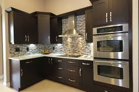 espresso kitchen cabinets with white countertops espresso shaker cabinets with granite countertops