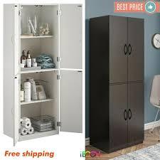 kitchen pantry wood storage cabinets wood storage cabinets with 4 doors pantry cupboard kitchen organizer