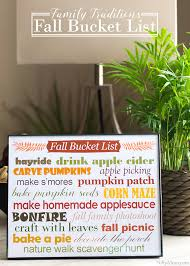 family traditions printable fall list