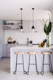 Small Apartment Kitchen Ideas Magnificent Small Kitchen Design With White Cabinet And Wooden