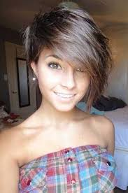 bob haircuts that cut shorter on one side best 25 pixie cut with long bangs ideas on pinterest pixie long