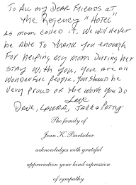 appreciation letter to chef testimonialsthe regency assisted living in long island