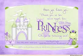 princess birthday invitation fairytale castle tiny party