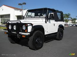 1997 land rover defender 90 1997 alpine white land rover defender 90 soft top 9187409