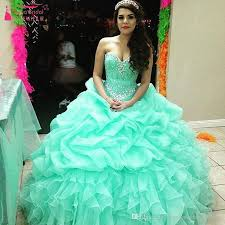 mint quinceanera dresses luxury mint green prom gowns sweetheart bling bling