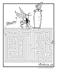 printable spring maze carrot woo jr kids activities
