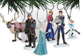 disney s frozen ornament set 6 pvc figure