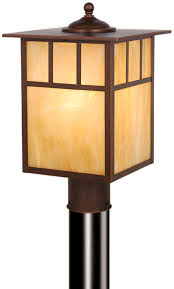 Outside Post Light Fixtures Vaxcel Op37295bbz Mission Craftsman Burnished Bronze Finish 9