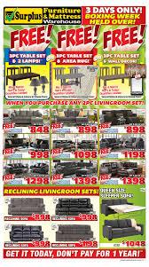 kitchener surplus furniture surplus furniture mattress warehouse kitchener flyer january 2 to 8