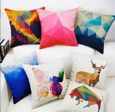 coussin design pour canape style nordique coloré coussin géométrique pour la maison décoration