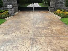 Stain Existing Concrete Patio by Decorative Colored Concrete Stain Intergral Coloring Products