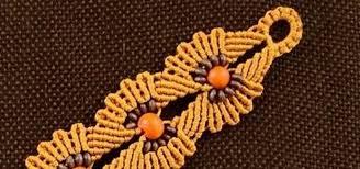 macrame flower bracelet images Diy macrame flower bracelet with beads jewelry wonderhowto jpg