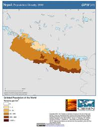 Maps Nepal by Map Gallery Sedac