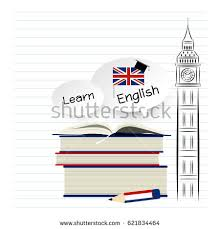 learn english education design on white stock vector 621834464