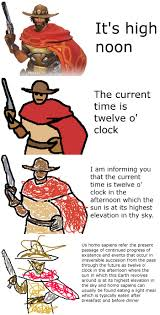 Memes O - the current time is twelve o clock increasingly verbose memes
