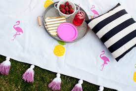 Outdoor Blanket Target by Flamingo Drop Cloth Tassel Picnic Blanket Vintage Romance Style