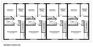 plan no 195181 second floor plan casas estreitas pinterest
