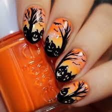 Halloween Nail Art Pumpkin - halloween pumpkin nail art halloween pumpkin nail art