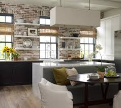 Brick Floor Kitchen by Brick Floor Kitchen Kitchen Contemporary With Red Brick Wall Red