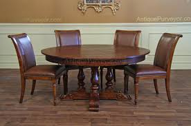 Large Round Dining Table Seats 6 Chair Handsome Round Walnut Dining Table And Chairs The
