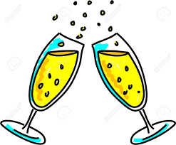 champagne glasses clipart two champagne glasses making a celebratory toast isolated on