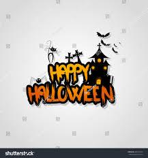 halloween vector design happy halloween lettering stock vector