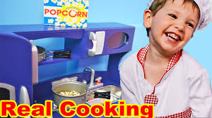 kids kitchen toys real food cooking playset fun toy food pans