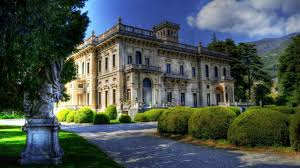 Old Mansions Houses Moss Mansion Flowers Grass Trees Stone Historic House