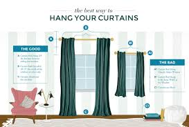 Curtain Rods Installation Hanging Curtain Rods Height Curtain Rods