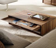 furniture splendid modern wooden coffee table with pullout