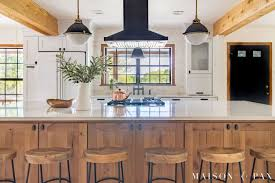 wood kitchen cabinets with white countertops rustic modern kitchen cabinets maison de pax