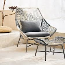 Lounge Chairs For Patio Design Global Style Woven Outdoor Lounger Chair S P A C E Pinterest