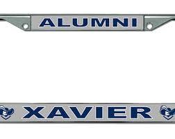 ohio alumni license plate frame xavier etsy