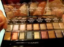 mac cosmetic 18 eye shadow 3 blush kit from ebay