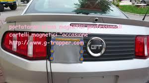 porta targa auto porta targa prova magnetici g trapper partners